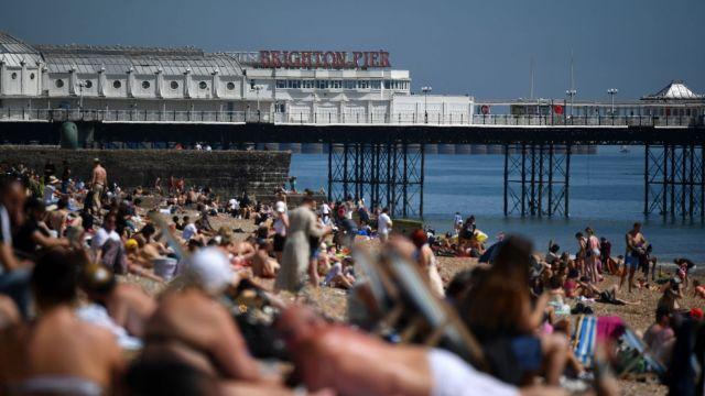 Brighton Beach during Coronavirus outbreak